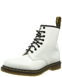 Bottines plates à lacets blanches Dr. Martens