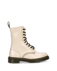 Bottines plates à lacets en cuir blanches Marc Jacobs
