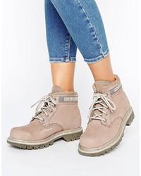 Bottines plates à lacets grises CAT Footwear