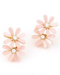 Boucles d'oreilles à fleurs roses