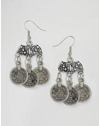 Boucles d'oreilles argentées Reclaimed Vintage