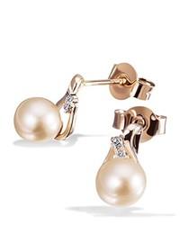 Boucles d'oreilles beiges goldmaid