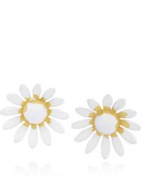 Boucles d'oreilles blanches Saint Laurent