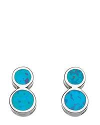 Boucles d'oreilles bleu canard Dew