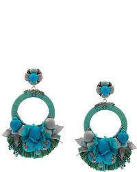 Boucles d'oreilles bleu canard Ranjana Khan