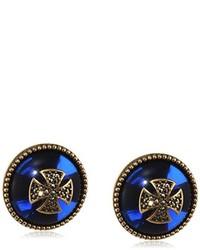 Boucles d'oreilles bleu marine Misis