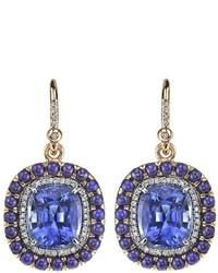 Boucles d'oreilles bleues Irene Neuwirth