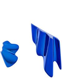 Boucles d'oreilles bleues Saint Laurent