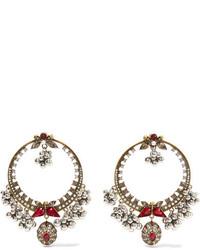 Boucles d'oreilles dorées Alexander McQueen