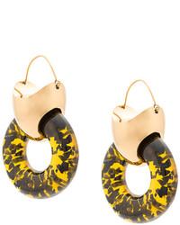 Boucles d'oreilles dorées Ellery