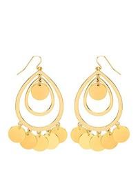 Boucles d'oreilles dorées Front Row