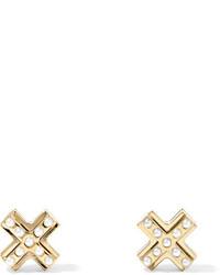 Boucles d'oreilles dorées Givenchy
