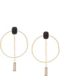 Boucles d'oreilles dorées Isabel Marant