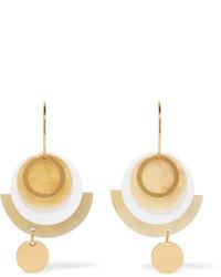 Boucles d'oreilles dorées Marni