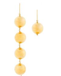 Boucles d'oreilles dorées MARQUES ALMEIDA