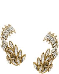 Boucles d'oreilles dorées Saint Laurent