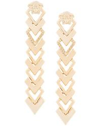 Boucles d'oreilles dorées Versace