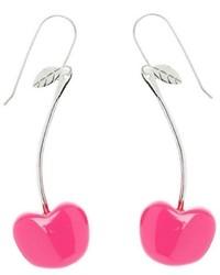 Boucles d'oreilles fuchsia