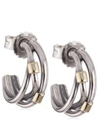 Boucles d'oreilles grises Pandora