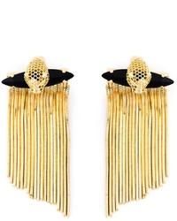 Boucles d'oreilles noir et doré Iosselliani