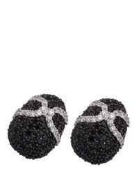 Boucles d'oreilles noires Alvina