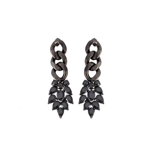 Boucles d'oreilles noires Iosselliani
