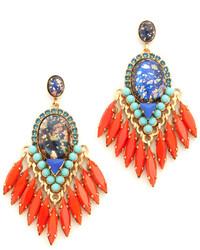 Boucles d'oreilles orange Elizabeth Cole