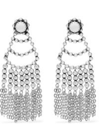 Boucles d'oreilles ornées de perles argentées