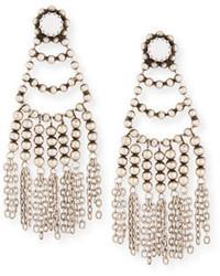 Boucles d'oreilles ornées de perles blanches