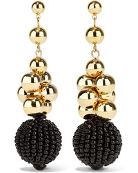 Boucles d'oreilles ornées de perles dorées Etro