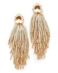 Boucles d'oreilles ornées de perles dorées Tory Burch