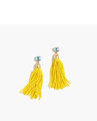 Boucles d'oreilles ornées de perles jaunes