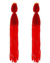 Boucles d'oreilles ornées de perles rouges