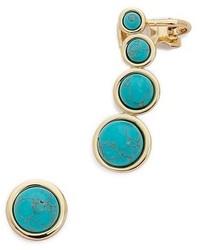 Boucles d'oreilles turquoise Rebecca Minkoff