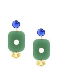 Boucles d'oreilles vertes Marni