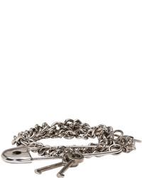 Bracelet argenté Alexander McQueen