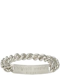 Bracelet argenté Maison Margiela