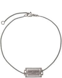 Bracelet argenté Saint Laurent