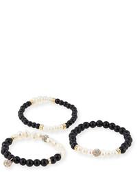 Bracelet blanc et noir