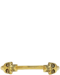 Bracelet doré Alexander McQueen