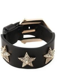 Bracelet en cuir à clous noir Givenchy