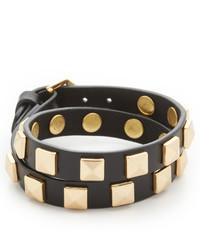 Bracelet en cuir à clous noir Rebecca Minkoff