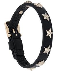 Bracelet en cuir à clous noir RED Valentino