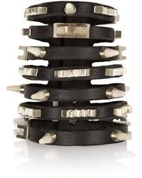 Bracelet en cuir à clous noir Rick Owens