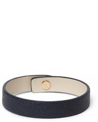 Bracelet en cuir bleu marine
