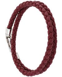Bracelet en cuir bordeaux Tod's
