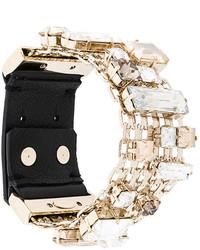 Bracelet en cuir doré Lanvin
