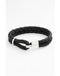 Bracelet en cuir gris foncé