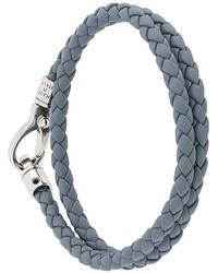 Bracelet en cuir gris Tod's