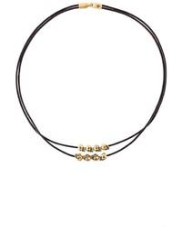 Bracelet en cuir marron foncé Alexander McQueen